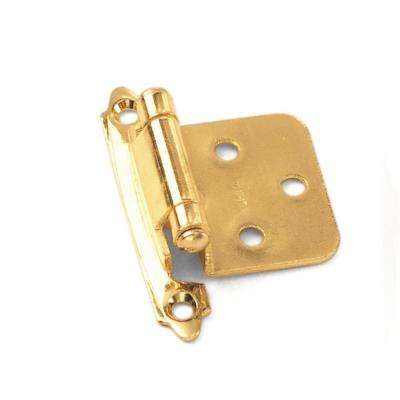 No Inset Polished Brass Self-Closing Hinge (1-Pair)