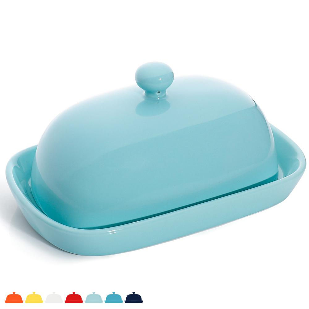 Sweese Porcelain Cute Butter Dish with Lid - Turquoise, Set of 8-BTDF-SB -  The Home Depot