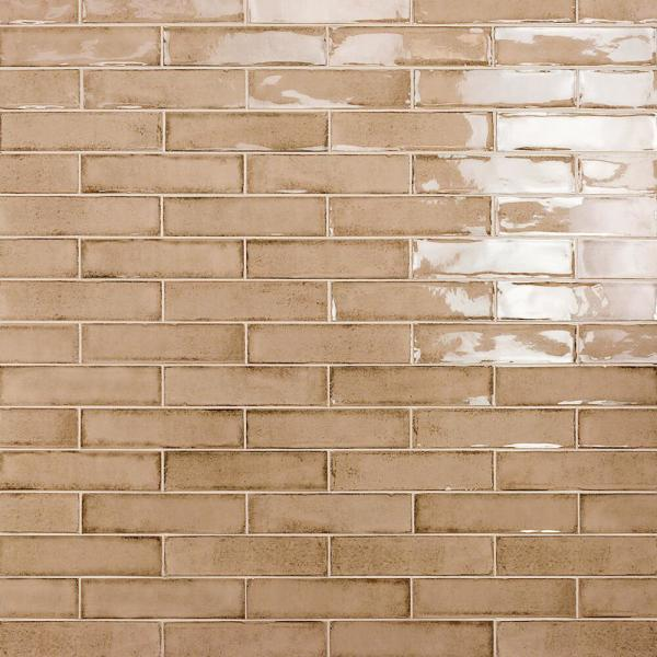 Moze Taupe 3 in. x 12 in. 9 mm Ceramic Wall Tile (22-Piece) (5.38 sq. ft./ Box)