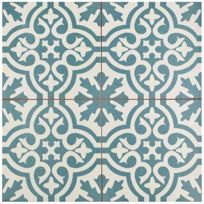 Berkeley Blue 17-5/8 in. x 17-5/8 in. Ceramic Floor and Wall Tile (11.1 sq. ft. / case)