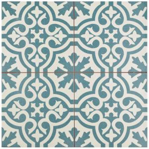 Merola Tile Berkeley Blue 17 5 8 In X Ceramic Floor And Wall 11 1 Sq Ft Case Fpebrkb The Home Depot