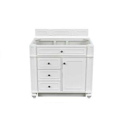 Bristol 36 in. W Single Vanity Cabinet Only in Cottage White