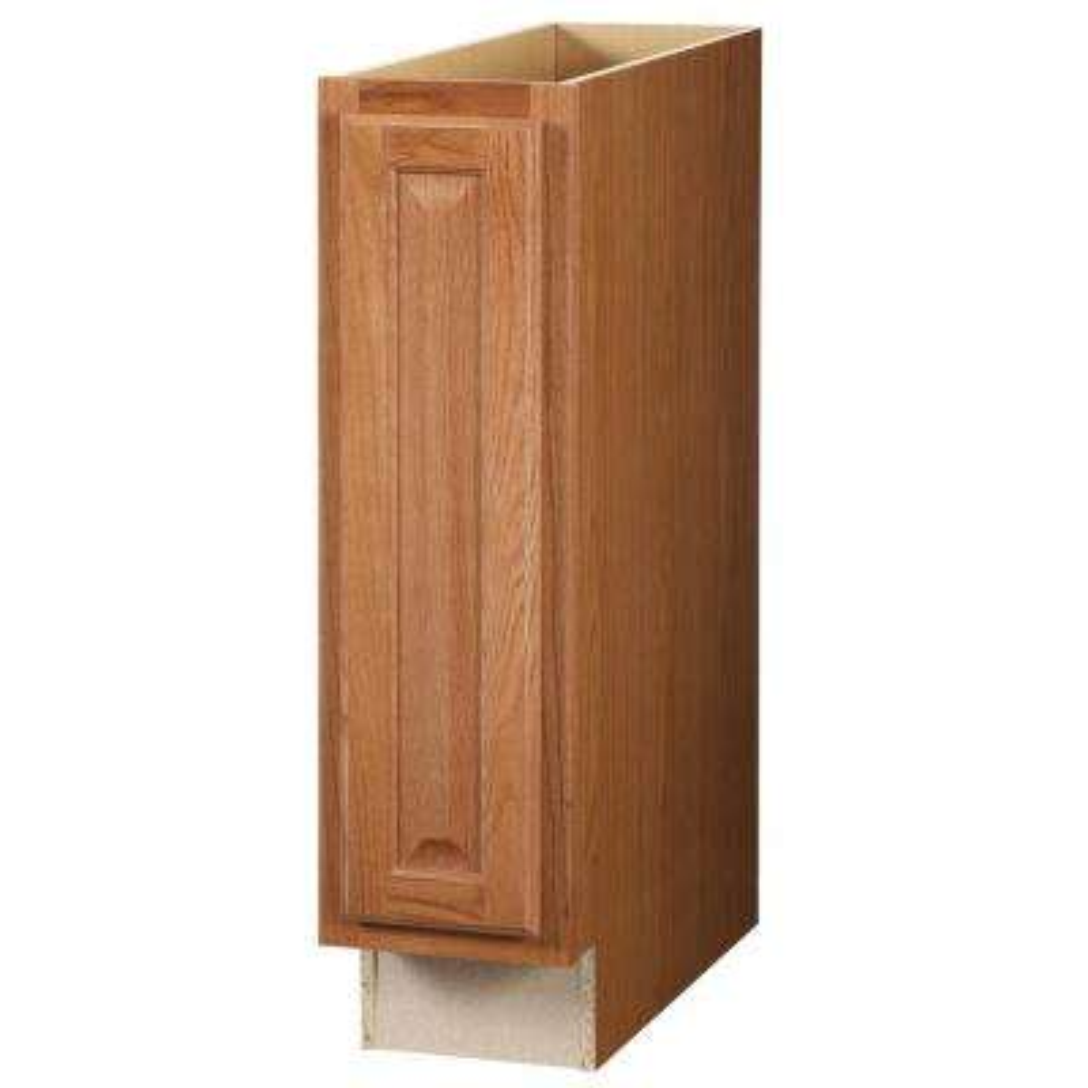 Hampton Assembled 9x34.5x24 in. Base Kitchen Cabinet in Medium Oak
