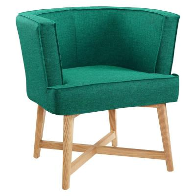 Anders Teal Upholstered Fabric Accent Chair