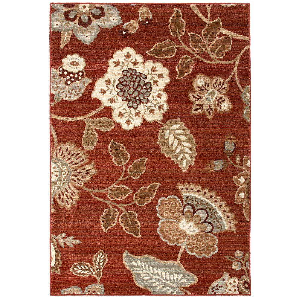 null Sanibel Red 7 ft. 10 in. x 10 ft. 10 in. Area Rug