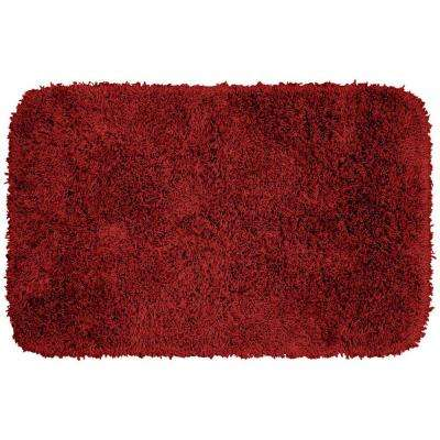 Jazz Chili Pepper Red 24 in. x 40 in. Washable Bathroom Accent Rug