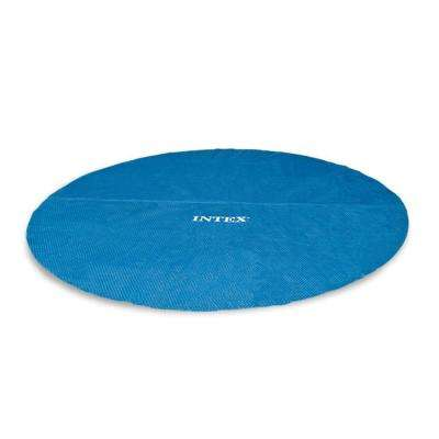 Easy Set 15 ft. Round Blue Vinyl Above Ground Pool Solar Cover for Swimming Pools