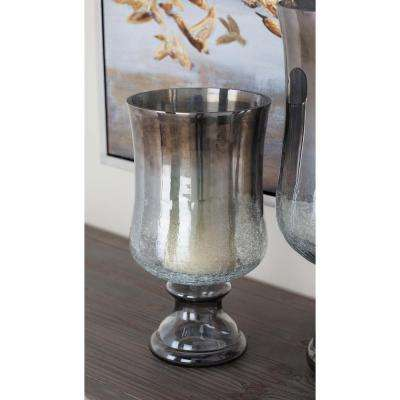 Smoked Glass Hurricane Candle Holder