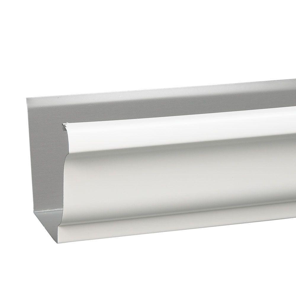 6 in. x 10 ft. White Aluminum Gutter