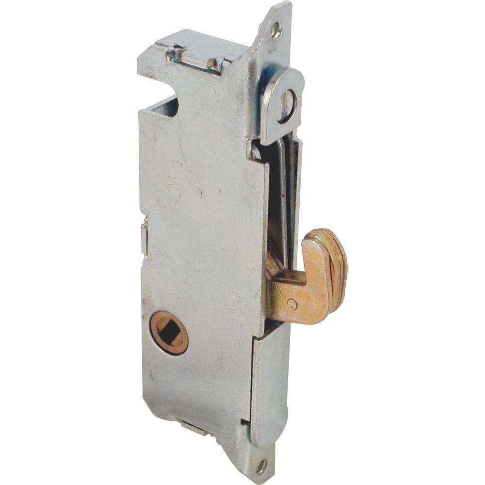 Prime-Line Mortise Lock, 3-11/16 in., Steel, 45 Degree Keyway, Round Faceplate, Spring-Loaded