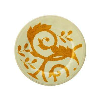 Gold Scroll 8 in. Almond Cream Salad Plate