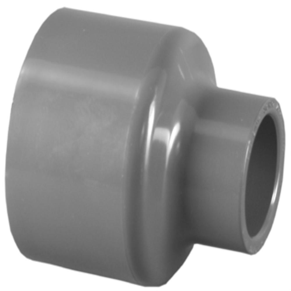 Charlotte Pipe 4 in. x 3 in. PVC SCH 80 SXS Reducer Coupling