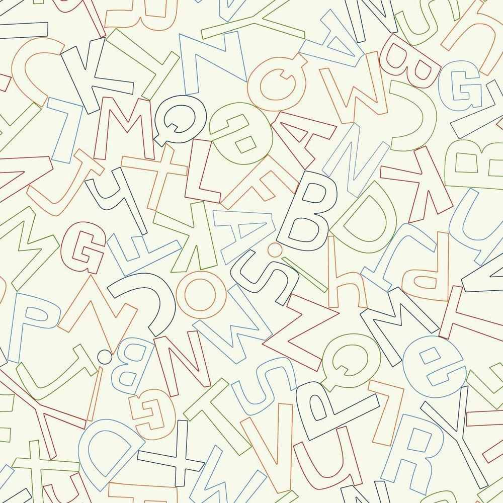 Waverly Kids Alphabet Soup Wallpaper
