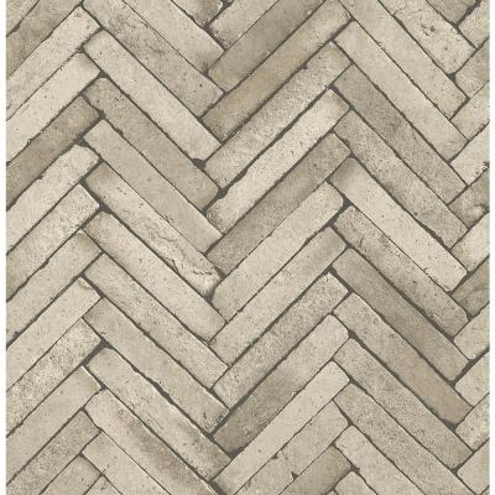 56.4 sq. ft. Arrow Neutral Diagonal Slate Wallpaper
