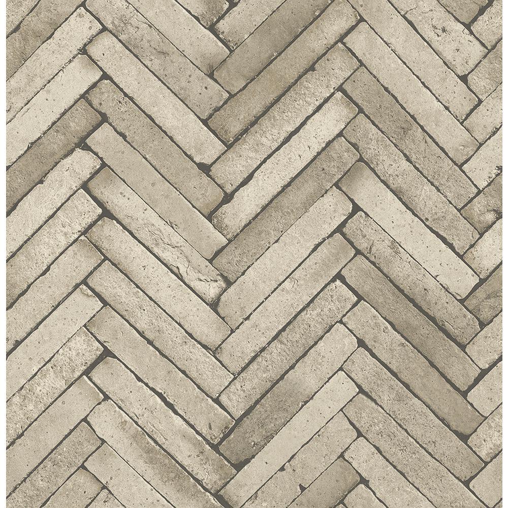 8 in. x 10 in. Arrow Neutral Diagonal Slate Wallpaper Sample