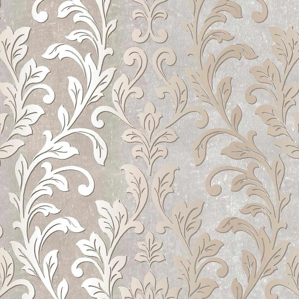 Norwall Silver Leaf Damask WallpaperTX34843 The Home Depot