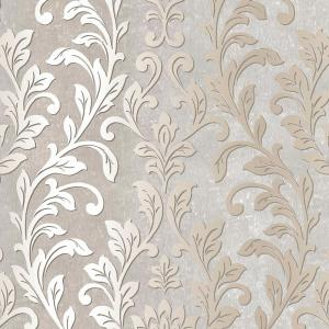 Norwall Silver Leaf Damask Wallpaper by Norwall
