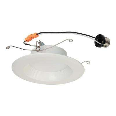 5 in. White Integrated LED Recessed Trim