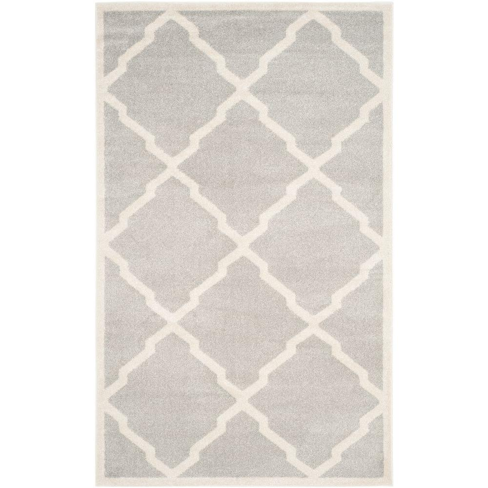 Amherst Light Gray/Beige 4 ft. x 6 ft. Indoor/Outdoor Area Rug