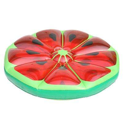 49 in. Inflatable Watermelon Fruit Slice Raft Lounger Float