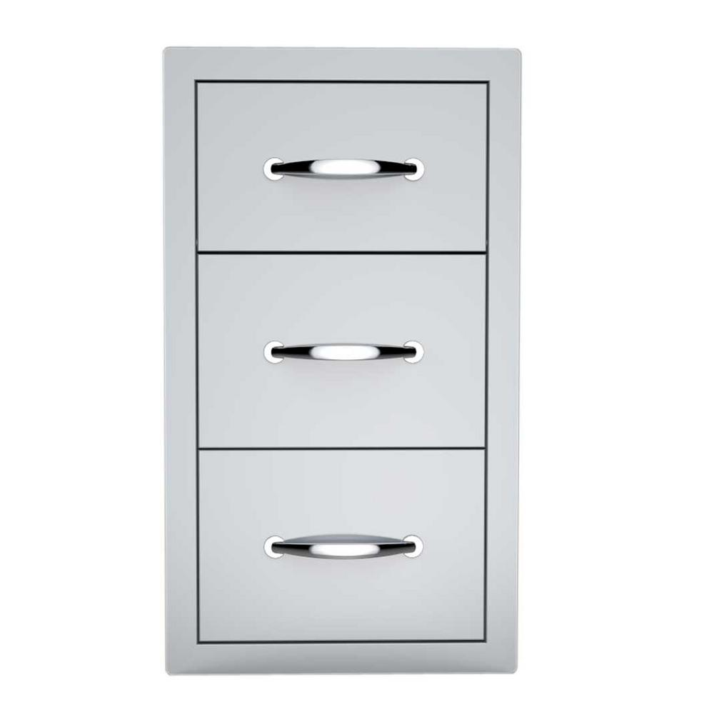 Sunstone Classic Series 14 in. 304 Stainless Steel Flush Drawer and Paper Holder Combo
