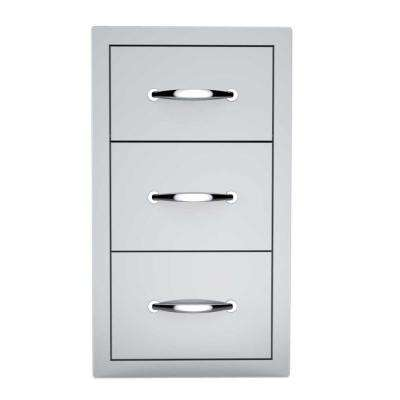 Classic Series 14 in. 304 Stainless Steel Flush Drawer and Paper Holder Combo