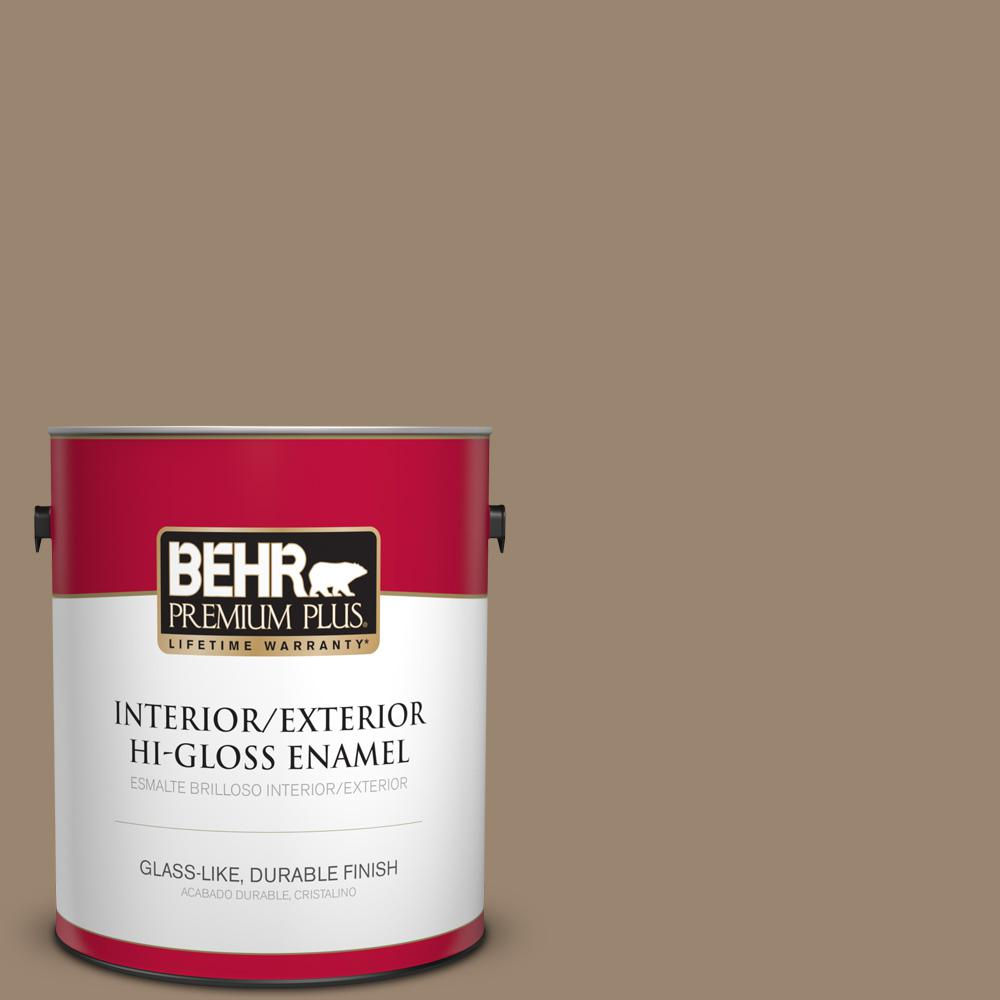 1 gal. #MQ2-48 Sturdy Brown Hi-Gloss Enamel Interior/Exterior Paint