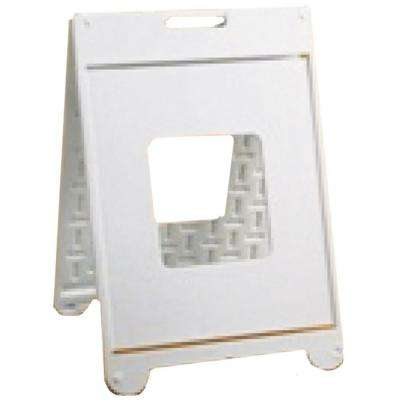 22 in. x 28 in. White Plastic Sign II