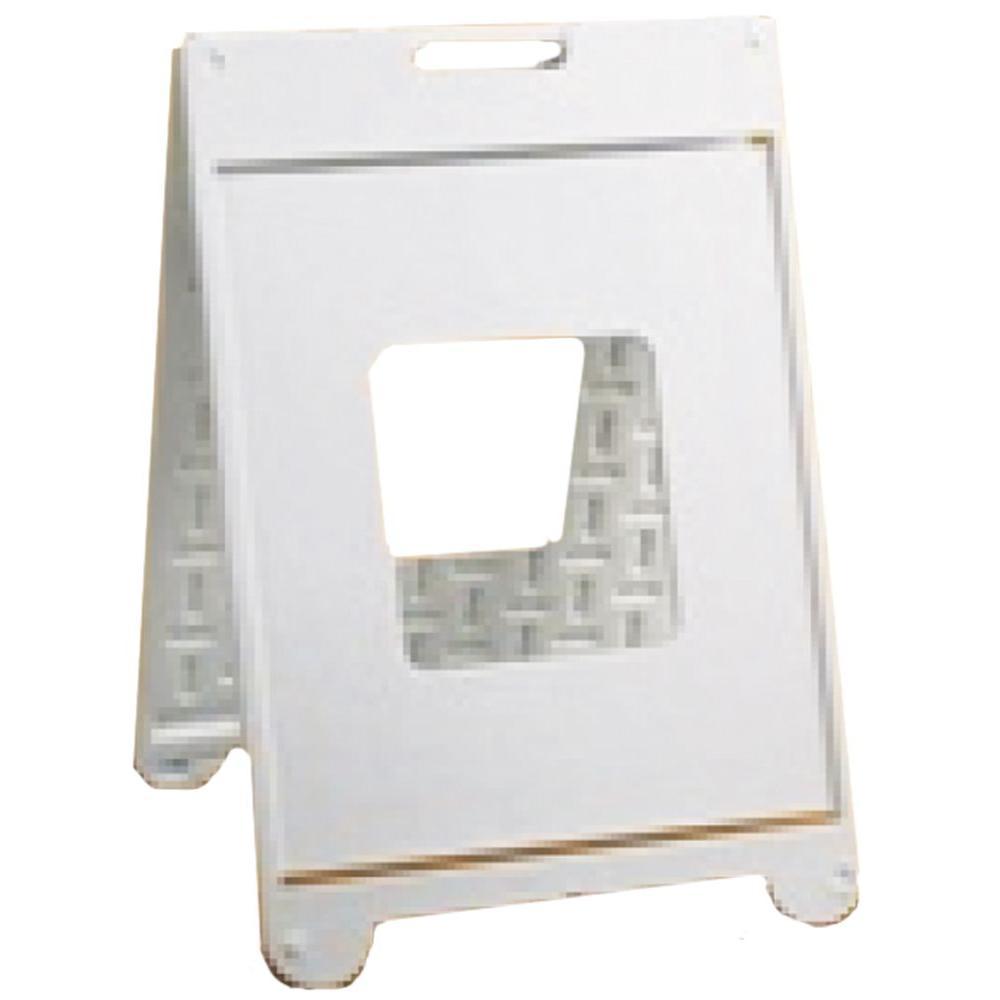 Simpo 22 in. x 28 in. White Plastic Sign II -  A-SSF2