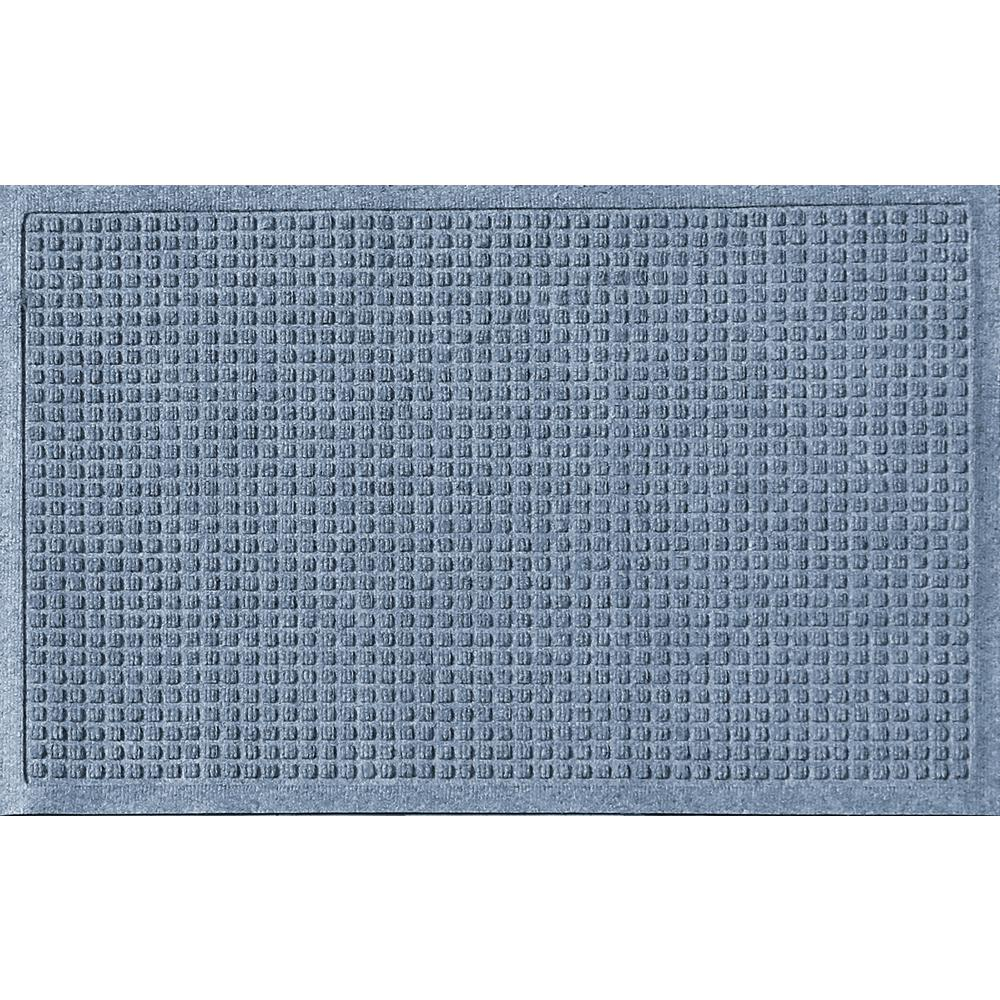 Aqua Shield Bluestone 24 in. x 36 in. Squares Polypropylene Door Mat