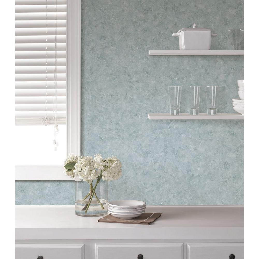 Brewster Giovanni Blue Scratch Marble Wallpaper