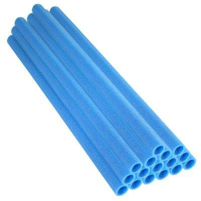 33 in. Blue Trampoline Pole Foam Sleeves Fits for 1 in. Dia Pole (Set of 16)