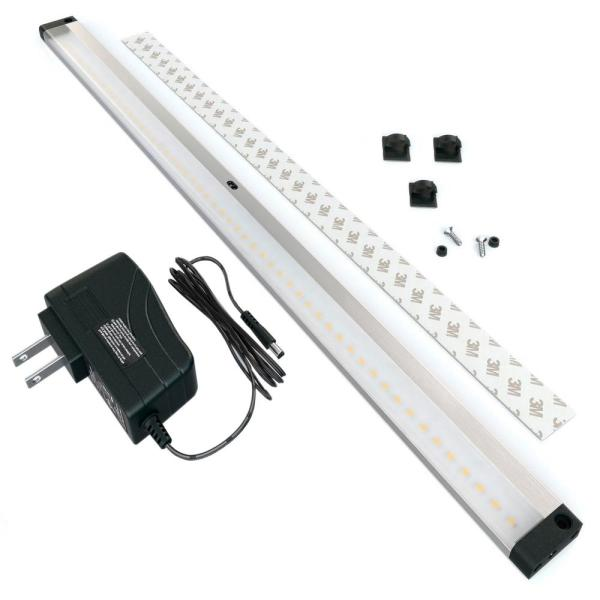 20 in. LED 6000K Black Under Cabinet Lighting, Dimmable Hand Wave Activated (1-Pack)