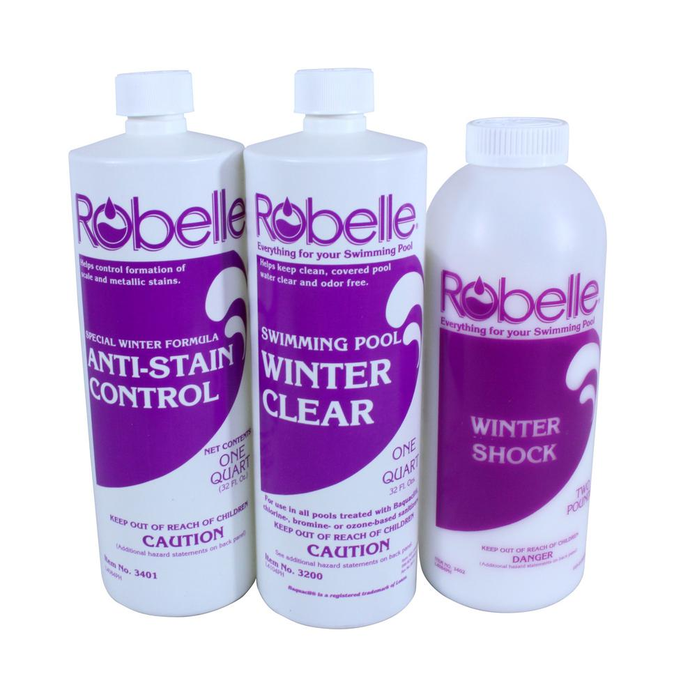 Robelle Triple-Action 15,000 Gallon Swimming Pool Winter Closing Chemical Kit