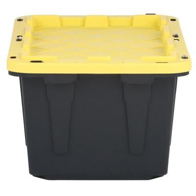 17 Gal. Tough Storage Tote in Black