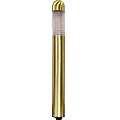 Ayan 1-Light Brass Outdoor Pathway Light