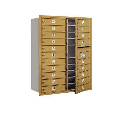 41 in. H x 31-1/8 in. W Gold Front Loading 4C Horizontal Mailbox with 20 MB1 Doors