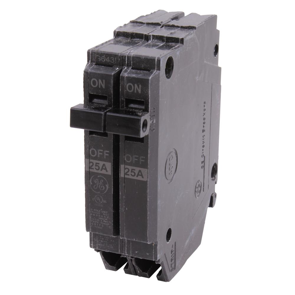 GE Q-Line 25 Amp 1 In. Double-Pole Circuit Breaker-THQP225