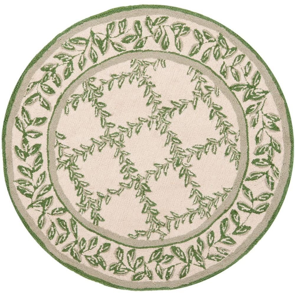 Chelsea Ivory/Light Green 3 ft. x 3 ft. Round Area Rug