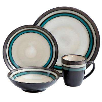 Legacy 16-Piece Retiro Teal Dinnerware Set