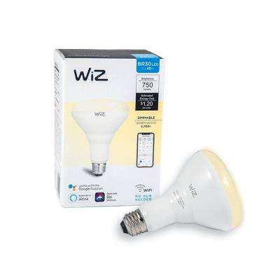 72-Watt Equivalent BR30 Dimmable Wi-Fi Connected Smart LED Light Bulb Warm White
