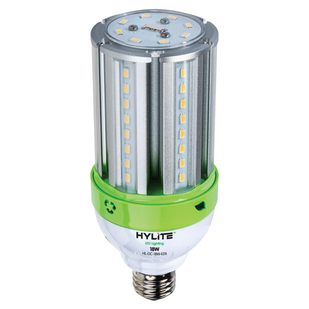 18-Watt E26 Omni-Cob LED Lamp 75-Watt HID Equiv 5000K 2520 Lumens Ballast Bypass Base IP 65 UL and CE Certified (1-Bulb)