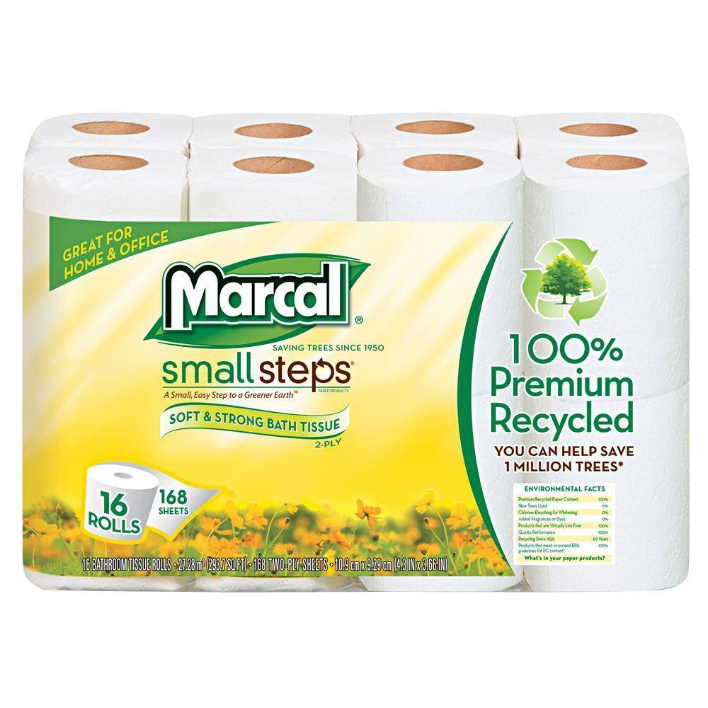 Recycled Bath Tissue 2-Ply (96 Rolls), White