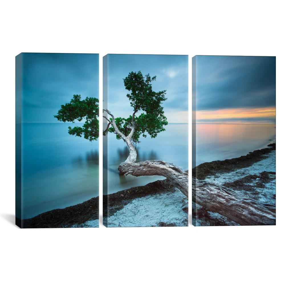 Icanvas Water Tree 10 Color By Moises Levy Canvas Wall Art