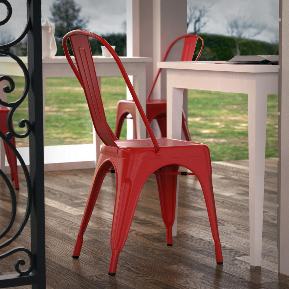 Poly And Bark Trattoria Red Side Chair (Set Of 4)