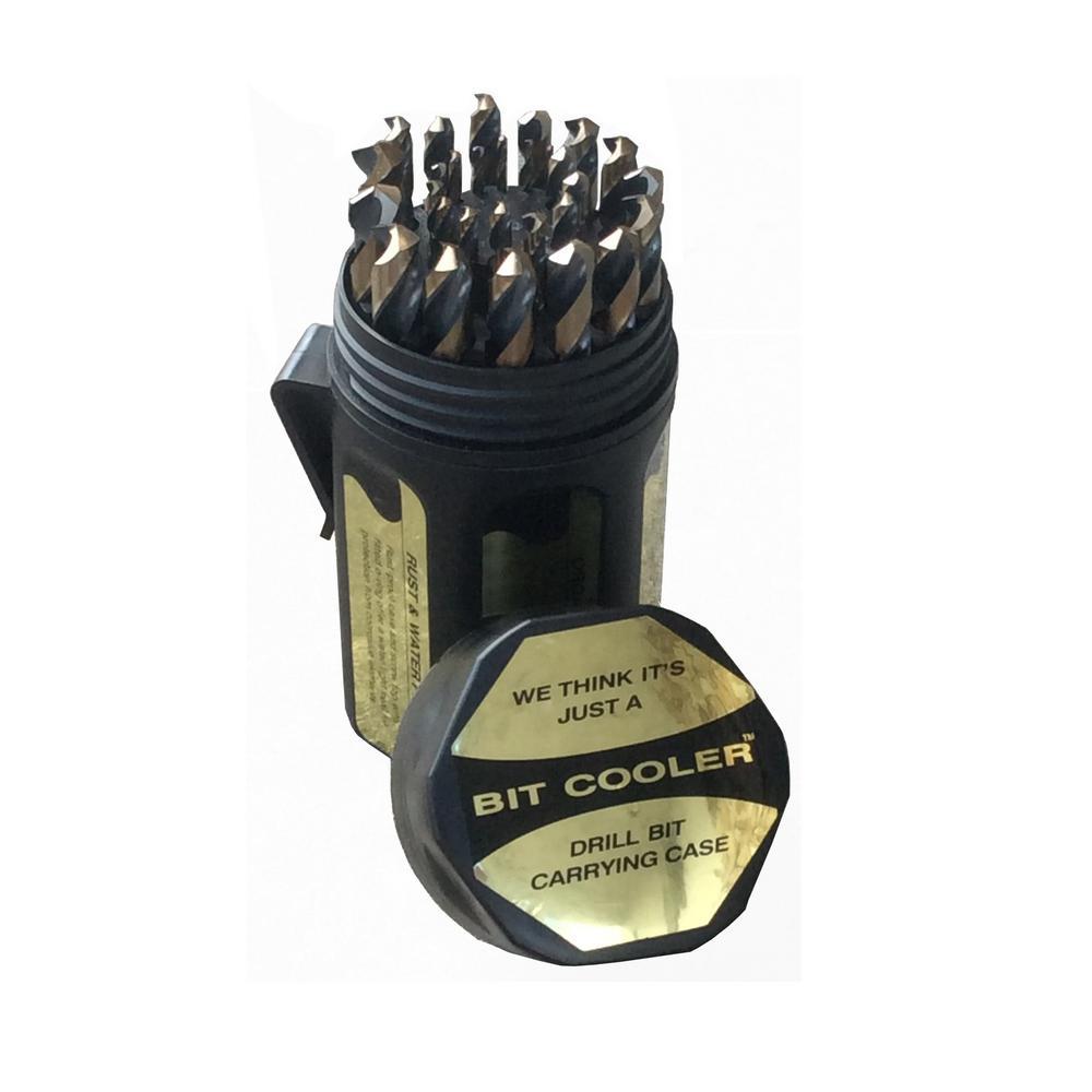Heavy Duty High Speed Steel Drill Bit Set in Round Case