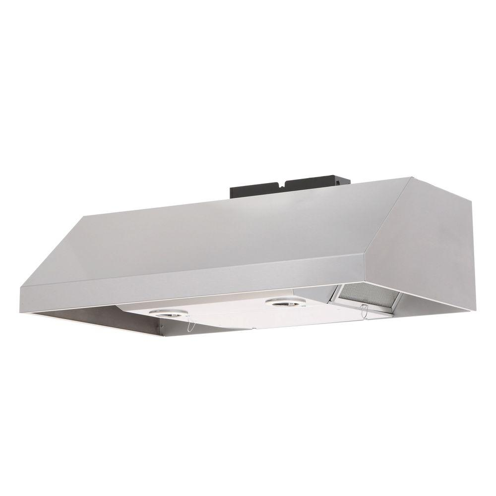 Professional Style Under Cabinet Range Hood With Light In Stainless Steel
