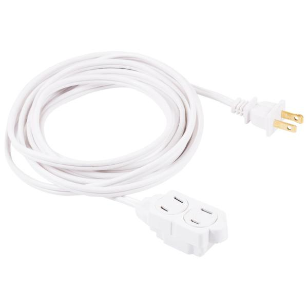 12 ft. 2-Wire 16-Gauge Polarized Indoor Extension Cord, White
