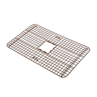 SinkSense Foster 25 in. x 17 in. Heavy-Duty Kitchen Sink Bottom Grid in Vinyl Coated Antique Brown