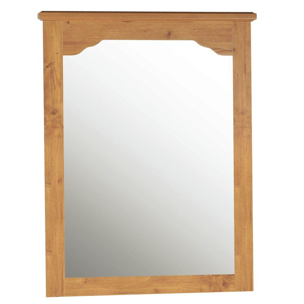 South Shore Little Treasures 41 in. x 34 in. Country Pine Framed Mirror
